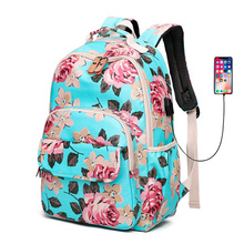 купить Canvas Backpack flower Waterproof Bags Fashion Causal Student Book Backpacks For Teenagers Girls Schoolbag Women Travel Bag по цене 1365.15 рублей