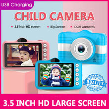 3.5 inch Full HD 1080P Kids Children Mini Digital Camera Front and Rear Camera 32GB Memory Card
