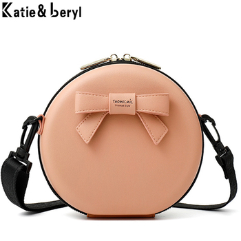NEW Circular Design Fashion Women Shoulder Bag Leather Women's Crossbody Messenger Bags Ladies Purse Female Round Bolsa Handbag weichen new designer women shoulder bag purse leather women messenger bags female clutch crossbody bag for ladies bolsa feminina