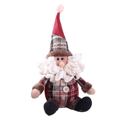 Хит, 30 стилей, рождественские украшения для дома, Рождественские куклы, елочные украшения, инновационная декорация с лосем, Сантой, снеговиком - Цвет: L 26x13cm