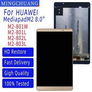 Original huawei mediapad m2 8.0 Polegada M2-801L M2-801 M2-801W M2-803L display lcd tela de toque digitador assembléia + quadro