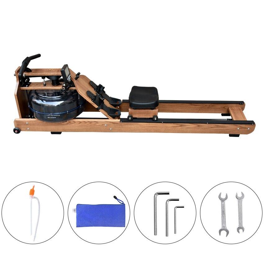 MR002 Machine de rangée de résistance à l'eau matériel en bois bras pectoraux abdominaux entraînement de remise en forme du corps aviron équipement de gymnastique à domicile intérieur - 6