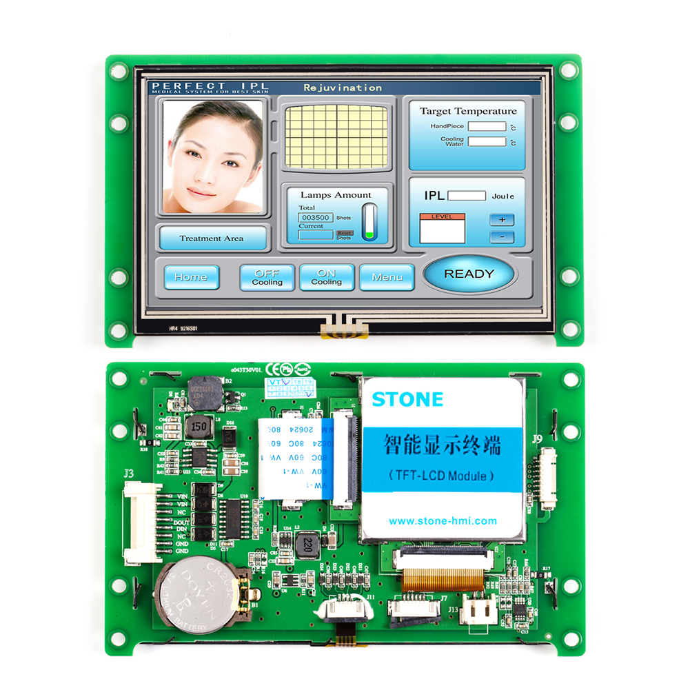 4.3 Inch Color HMI TFT LCD Display Module With Controller Board+Program