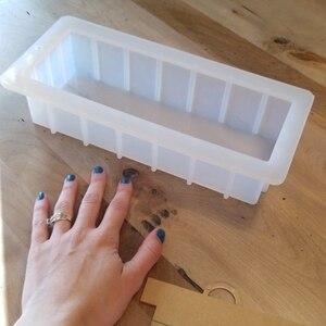 Image 4 - Formy silikonowe do mydła z przezroczystą pionową akrylową klapą biały prostokątny bochenek formy