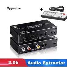 4K @ 60HZ 2x1 kompatybilny z HDMI 2.0b przełącznik ekstraktor Audio wsparcie HDR Apple TV4 PS4 odbiornik rozdzielacz Audio z ARC i sterowanie IR