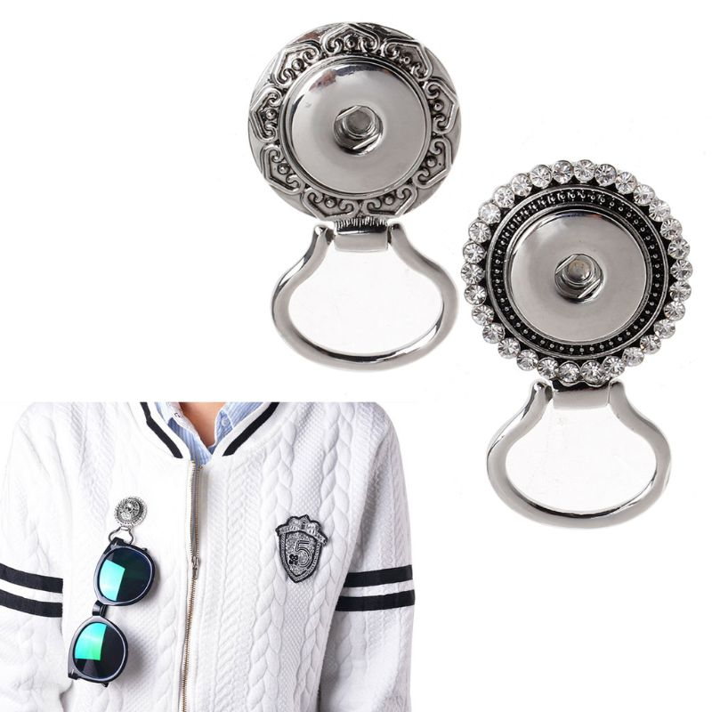 Flower Button Rhinestone Eye Glass Sunglass Holding Snap Magnetic Brooch Jewelry in Brooches from Jewelry Accessories