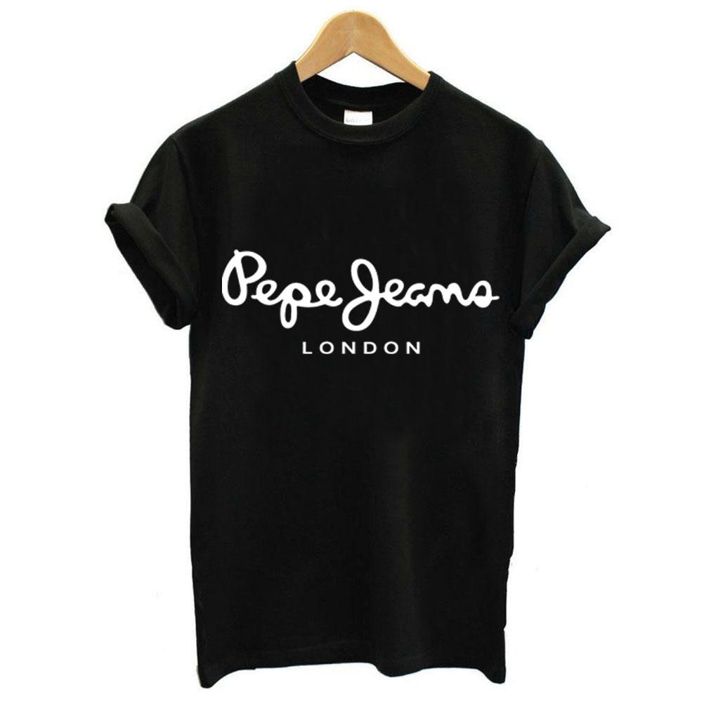 Sondirane Fashion Women T Shirt Harajuku Short Sleeve Print Letters T Shirt Crewneck Cotton Casual Style Tee Shirt Plus Size
