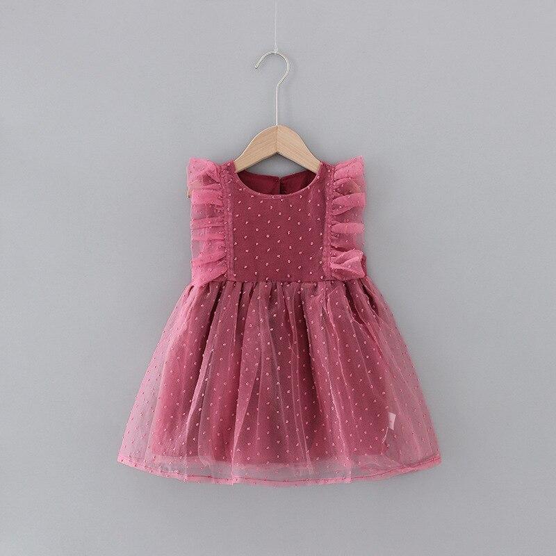 Baby Girls Cute Princess Dress Sweet Summer Sleeveless Fashion Puffy Mesh Dress Kids Baby Girl Cloths