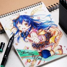 34 Sheet A3/A4/A5 Professional Marker Paper Spiral Sketch Notepad Book Painting