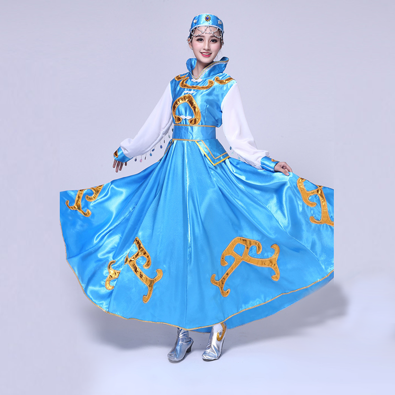 Mongolian Show Serve Mongolia Dance Clothing Inner Mongolia Dance Clothing Mongolia Robe Ethnic Minority Performance Skirt