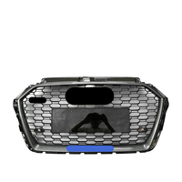 Car Front Bumper Grill Center Grille Carbon Style for Audi A3/S3 8V 2017 2018 2019 (Refit for RS3 Style) Car Front Bumper Grille