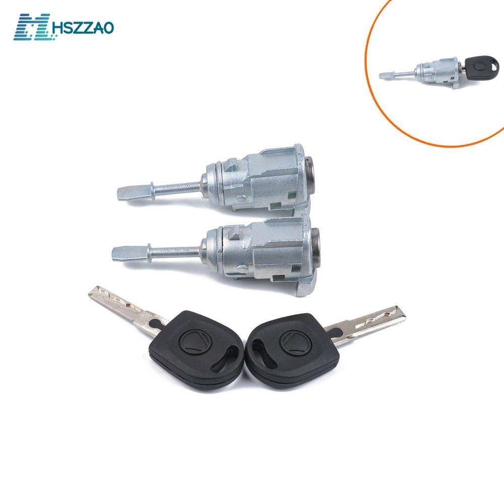 Car Left +Right Door Lock Cylinder Vehicle Door Safety Lock Core Accessories Relacement 3B0837167 For Passat 3B Lupo