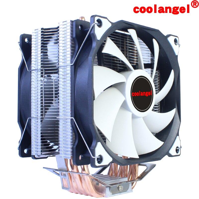 Кулер для процессора 2011 X79 X99, 6 тепловых трубок, 120 мм, 4 контакта, ШИМ, вентилятор охлаждения процессора LGA 1200 1155 1356 1366 AMD3 AM4, универсальный вент...