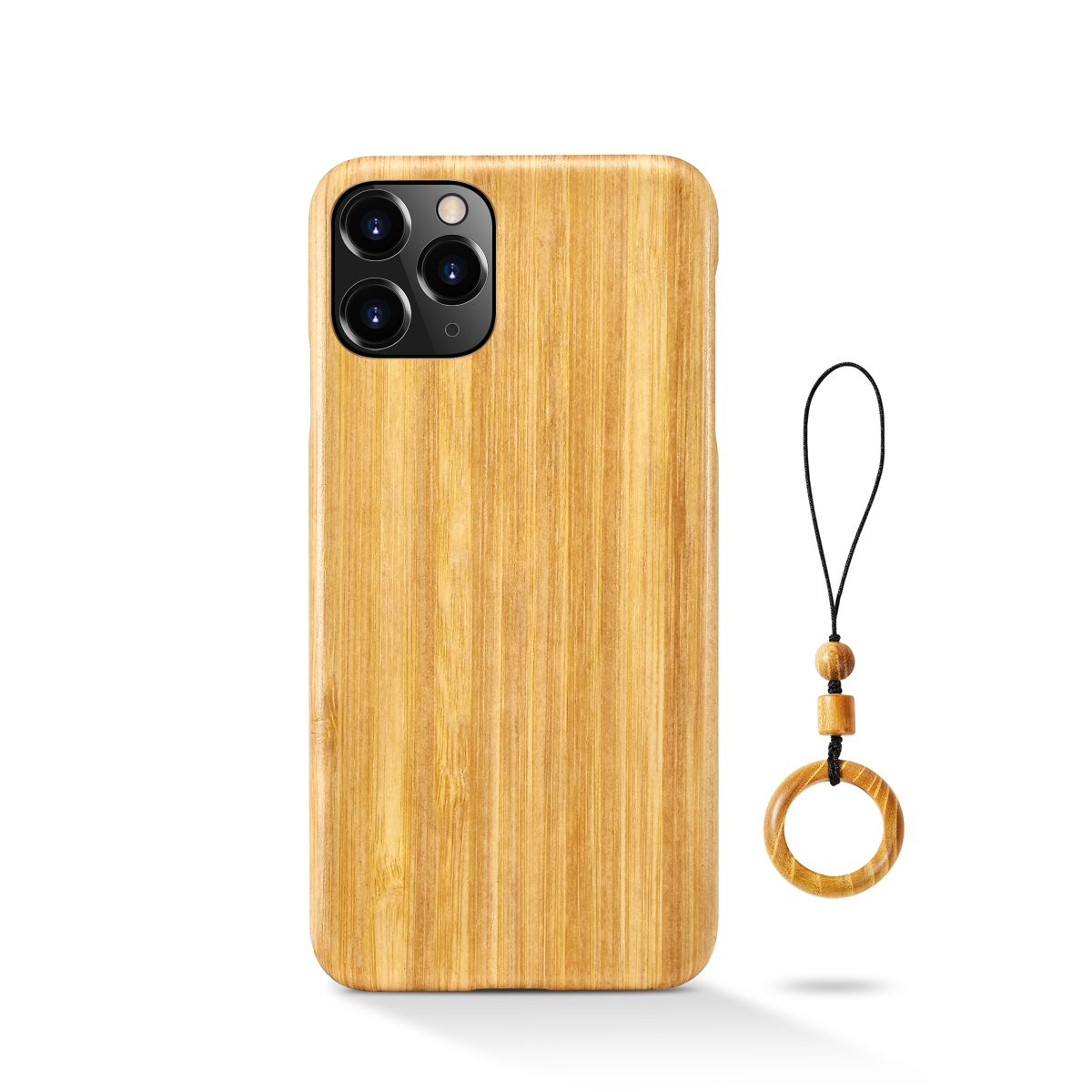 100% Natural Real Wood Bamboo Hard Slim Wooden Case for iPhone 12 pro