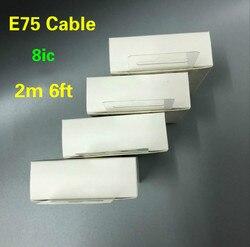 10 pçs/lote original 8ic 2m/6ft e75 chip usb cabo de dados sincronização carregador para 6s 7 8 mais xr xs max com novo pacote