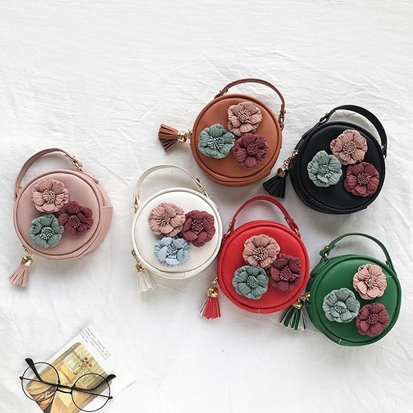 Kids Handbags Baby Bags Lovely Letter Design Princess Purses Girl Mini Pu Chain Inclined Shoulder Bags Floral Handbag Birthday X