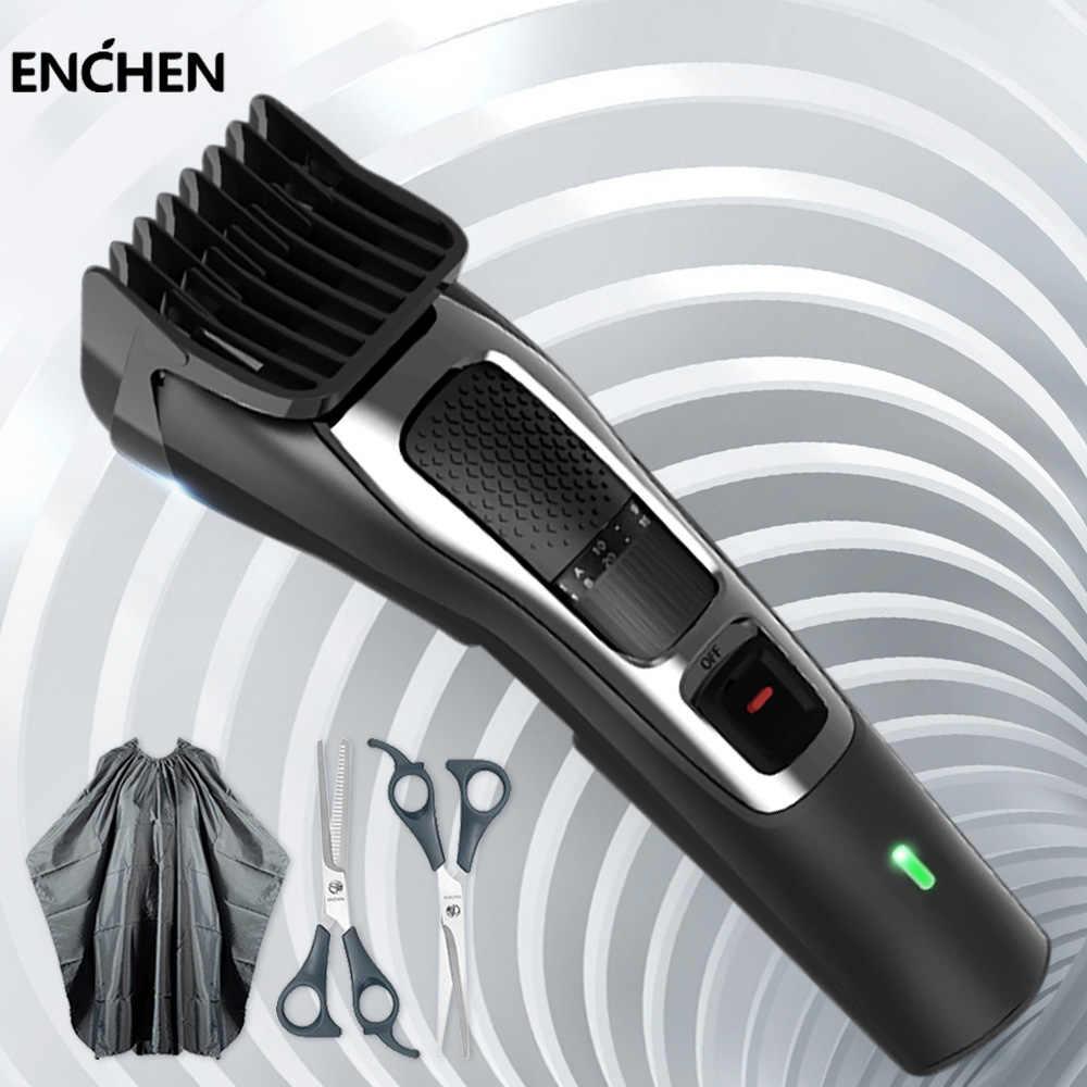 Enchen Professional Hair Trimmer Men Electric Hair Clipper Beard