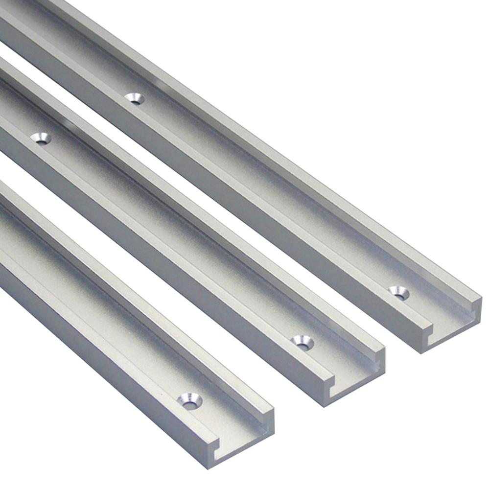 40cm Stainless Steel DIY Woodworking Router Table T-Slot Miter Track Jig Tool