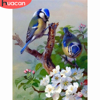 HUACAN Diamond Painting Cross Stitch Birds Embroidery Animals 5D DIY Mosaic Full Drill Decoration Home - discount item  43% OFF Arts,Crafts & Sewing