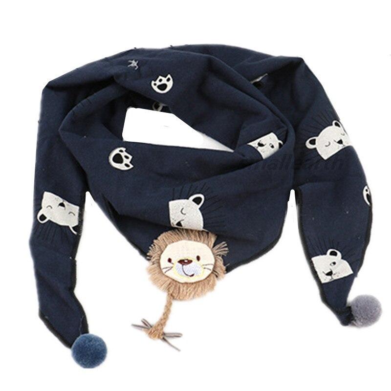 Весенние клетчатые треугольные шарфы в горошек для маленьких девочек; осенне-зимняя шаль для мальчиков и девочек; Детские хлопковые воротники; теплый детский шейный платок - Цвет: B7