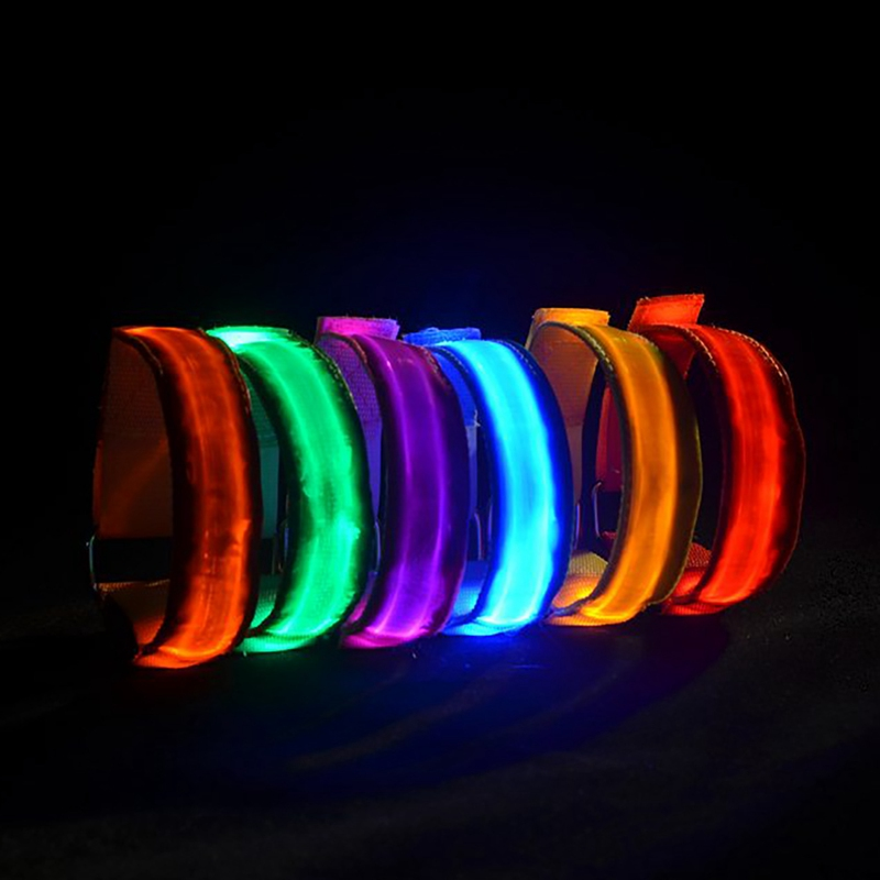 20201pcs Running LED Light Armband USB Rechargeable Night Safety Sports Accessories For Cycling Joggle