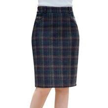 Новинка 2020 осенне зимняя женская клетчатая юбка с высокой