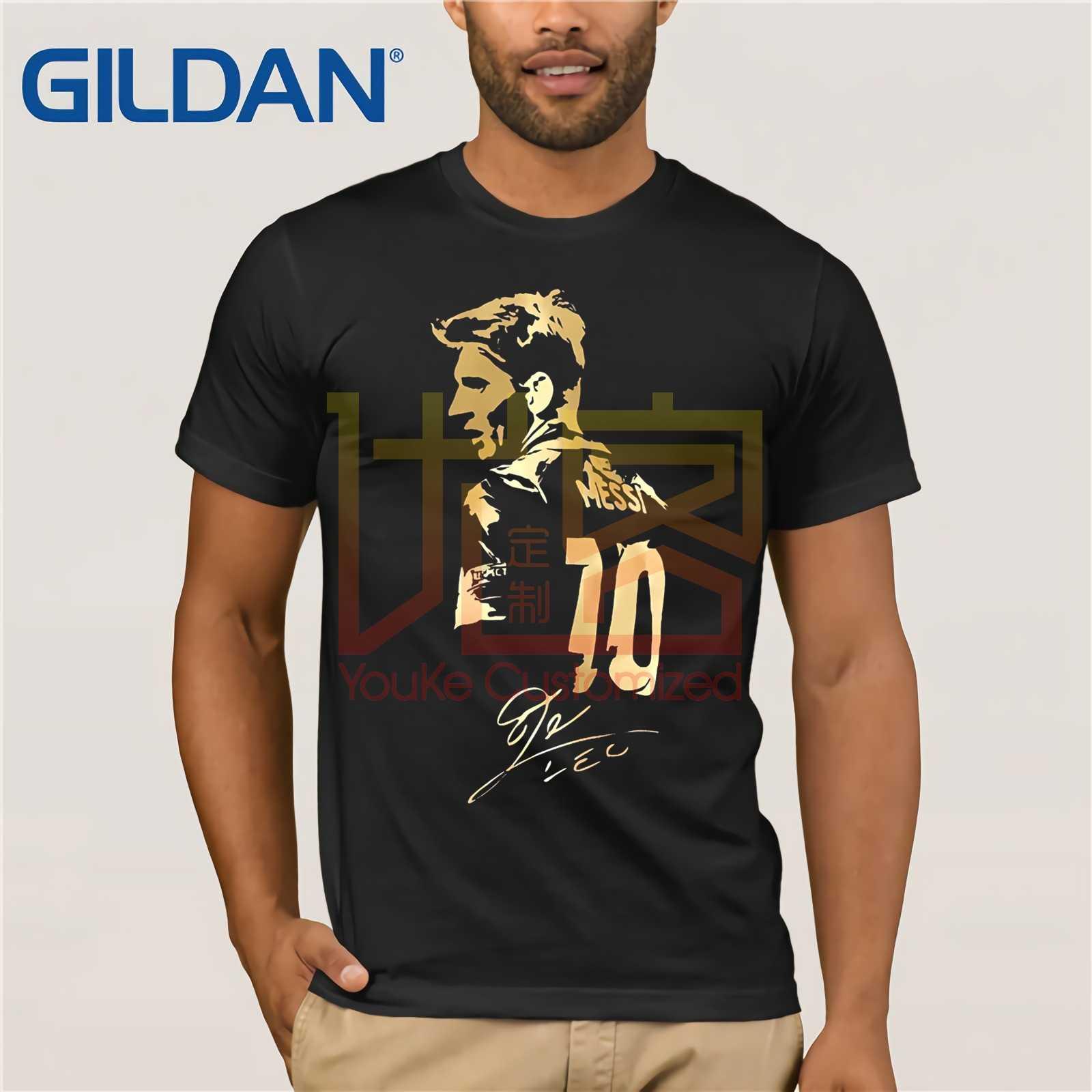 Camiseta de manga curta masculina lionel messi figura autograph camp nou jérsei argentina