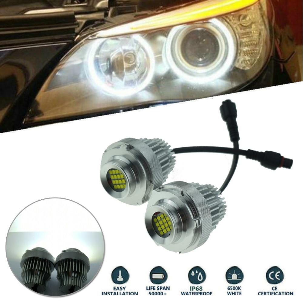 ANGEL EYES HALO RINGS LED MARKER *40W CREE BMW E60 LCI 2007- HALOGEN HEADLAMPS
