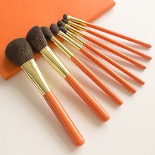 Professional Handmade Makeup Brushes Set Soft Blue Squirrel Goat Hair Face Powder Contour Eye Shadow Brush Make Up Brush Kit