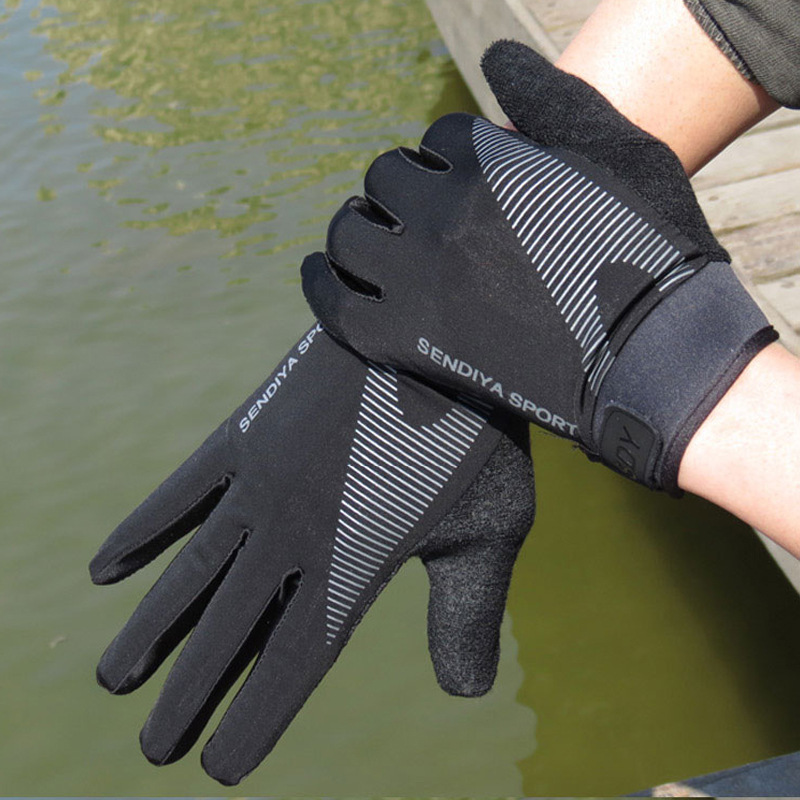 Deukio gloves for fishing Full Finger Breathable Pesca Fitness Carp Winter Anti Slip Fishing Gloves image