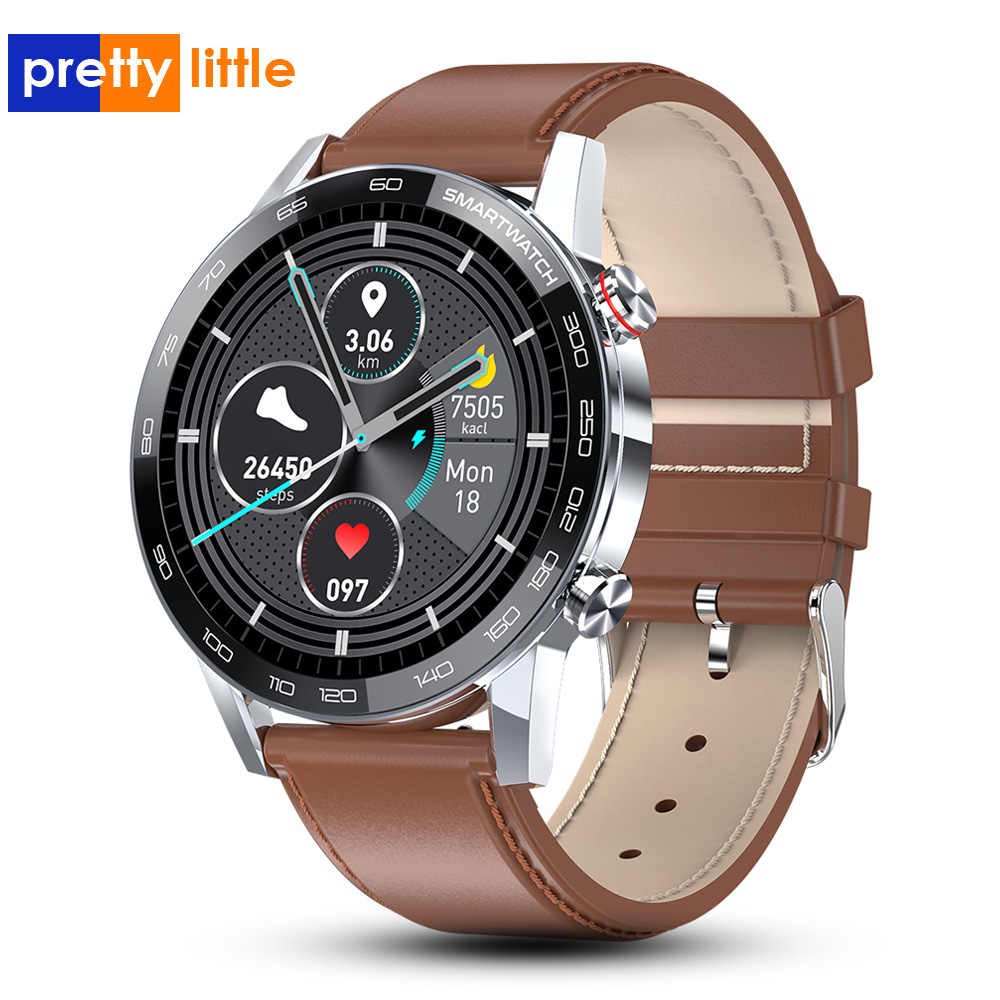 PPL16 Astuto Della Vigilanza Degli Uomini di 1.3 pollici 360*360 HD dello schermo di tocco Pieno Smartwatch ECG PPG IP68 Impermeabile di Sport di Fitness orologi