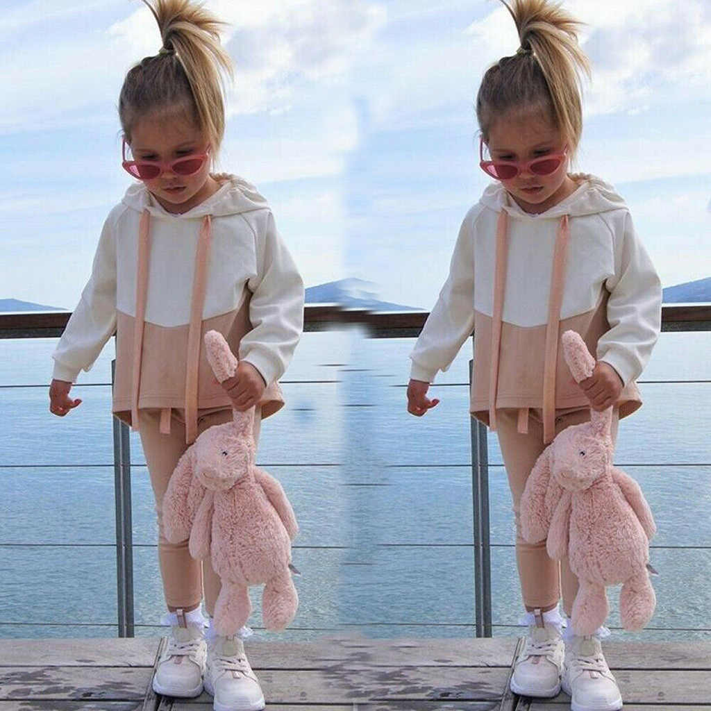 Girls Clothes Spring Autumn 2PCS Long-sleeved Hooded Jacket Pants Sportswear 1-4 Years Quality New Toddler Girls Clothing Sets