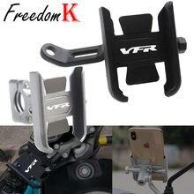Para yamaha vfr800 vfr 800 acessórios da motocicleta cnc guiador suporte do telefone móvel gps suporte