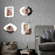 4pcs Photo Picture Frame Wall Mirror Frames Set Luxury Europe Antique Retro Baby First Year Magnet Thin 3x3.5in 4x6in 5x7in F011(China)
