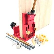 ثقب دليل حفر وتد الرقصة النجارة المائل ثقب محدد مجموعة أدوات الحفر عدد وأدوات الخشب الألومنيوم مع مثقاب الخشب