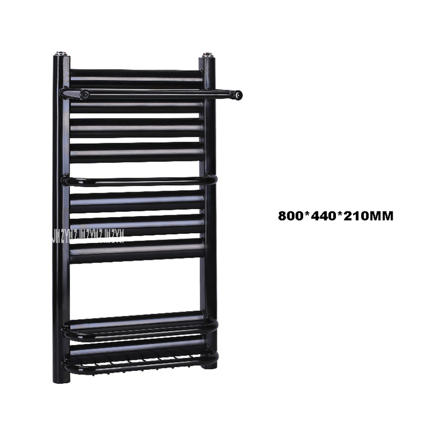 60/80cm Towel Warmer Thickened Cold-Rolled Mild Steel / Copper Aluminum Compound Electric Heated Towel Rail Heating Towel Rack