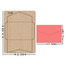 بطاقة جديدة خشبية يموت سكرابوكينغ C 148 قطع يموت متوافق مع معظم ماكينات قص يموت