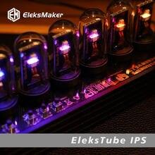 Elekstube IPS RGB Quasi Imitated Glow Tube Clock Desktop Creative Decoration Gift Destiny Stone Door