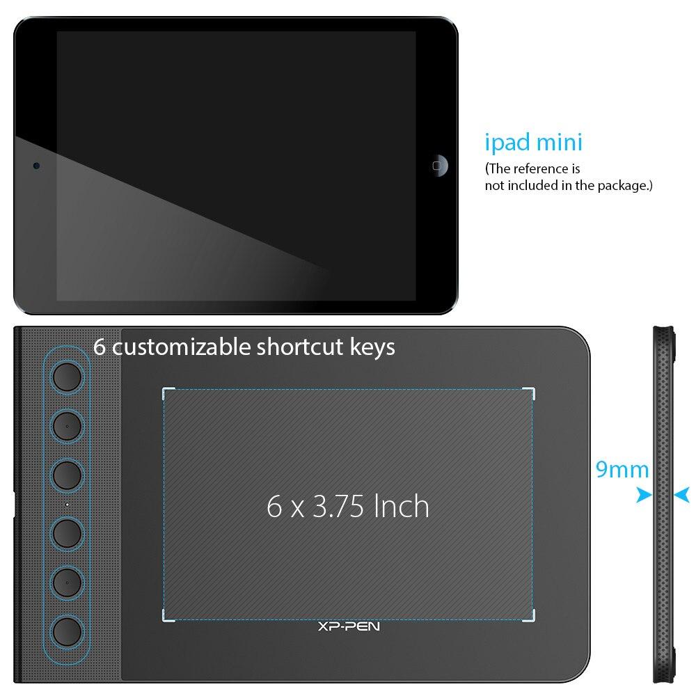 XP-Pen Star G640S Graphic tablet Zeichnung Tablet digitalen Stift Tabletten für OSU! Mit Stylus stift 8192 druck Für Android