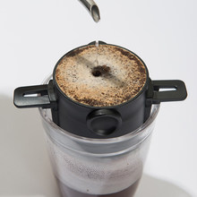 Kahve filtresi taşınabilir ABS paslanmaz çelik damla kahve çay tutucu huni sepetleri kullanımlık çay demlik ve standı kahve damlatıcı