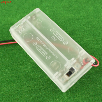 2 AA Battery Holder Box Case With Switch New 2 AA Batteries Storage Protector Cover Transparent For RC Car DIY Smart Circuit image