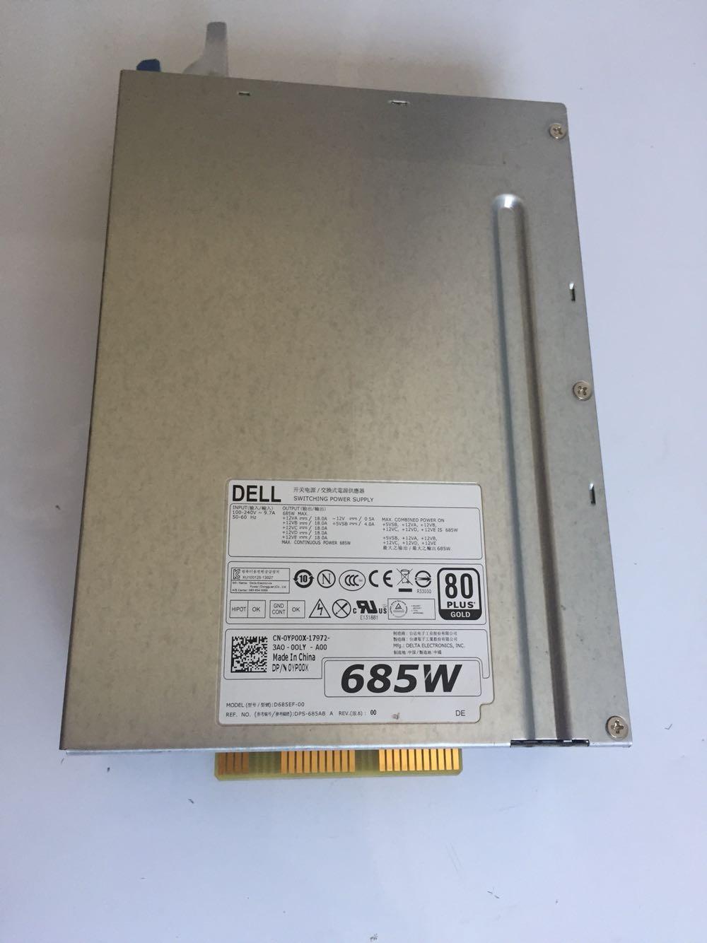 Original T3610 T5610 685W Power Supply 0WPVG2 0YP00X 0CT3V3 D685EF-00,DPS-685AB A F685EF-00 H685EF-00 Work Perfect