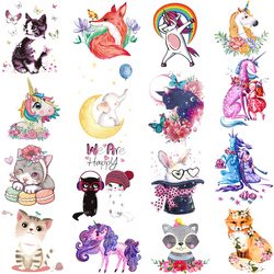 Prajna Cute Cat Iron On Transfers Cartoon Animal Patches For Clothing DIY A-level Washable T-shirt Accessory Clothes Stickers