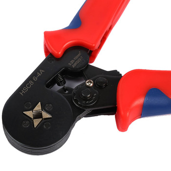 цена на Tubular Terminal Crimper 6-4A 0.25-10mm2 24-8AWG insulated and non-insutaled Tubular Electrical wire Terminals crimping pliers