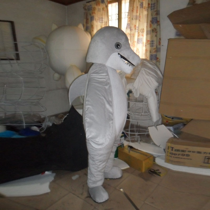 A dolphin mascot costume for adults to wear cartoon figures in Mascot from Novelty Special Use
