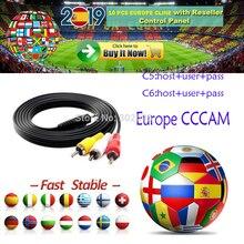 Европа Cccam 6 7 8 Европа cline Full HD 1 год Cccam cline для Европы использовать для спутникового ТВ приемник DVB-S2 сервер hd