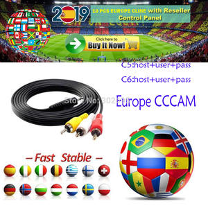 Receiver Server Cline Satellite Tv Europe Cccam Full-Hd DVB-S2 6 7 8 for Use-For