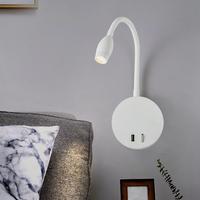 Zerouno flexible led reading lamp study room bedside reading wall lamps 5V 2A USB port led wall mounted table reading lights