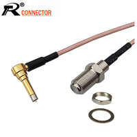 1PCS MS156 zu F Weibliche Schutzwand Jack RG316 Zopf Kabel F zu MS156 Stecker RF Erweiterung Jumper Kabel