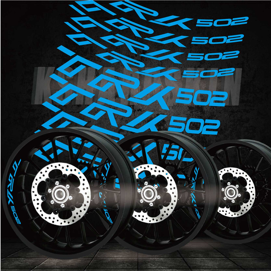 New Fashion Tire Modified Motorcycle Creative Reflective Stripe Sticker Creative Wheel Decal For BENELLI TRK502 Trk 502